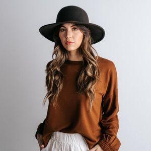 Accessories - chocolate brown felt hat